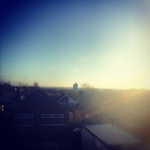Another Beautiful Day In Nottingham Clear Sky Blue Sunrays sunset nottingham tuesday