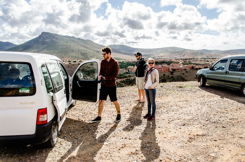 Atlas Break Casual Clothing Cloud Cloud - Sky Day Enjoying The View Friend Friendship Journey Land Vehicle Landscape Lifestyles Mode Of Transport Morocco Mountain Nature On The Move Outdoors Road Road Sky Surf Transportation The Drive Let's Go. Together. Connected By Travel