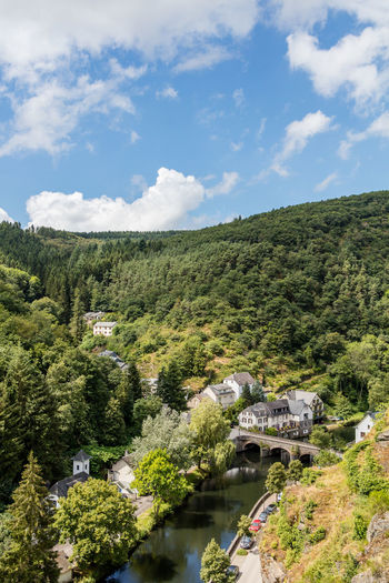 Architecture Bridge Day Historic Luxembourg Mountainous Nature Outdoors River Town