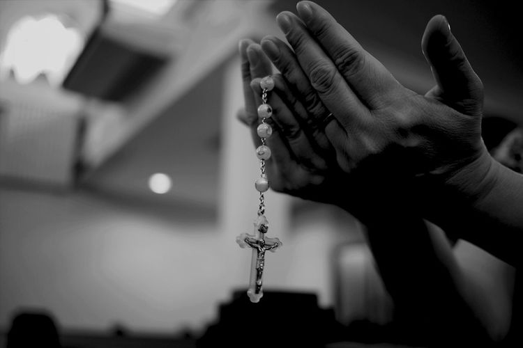 Pray On Rosary Beads