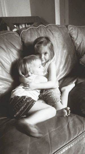 Sister love, Two People Childhood Child Bonding Indoors  Togetherness Girls Hugging Sisters, Love,