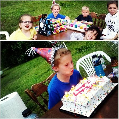 Joshuas Birthday Big10 DoubleDigits mylittlebrother growingup