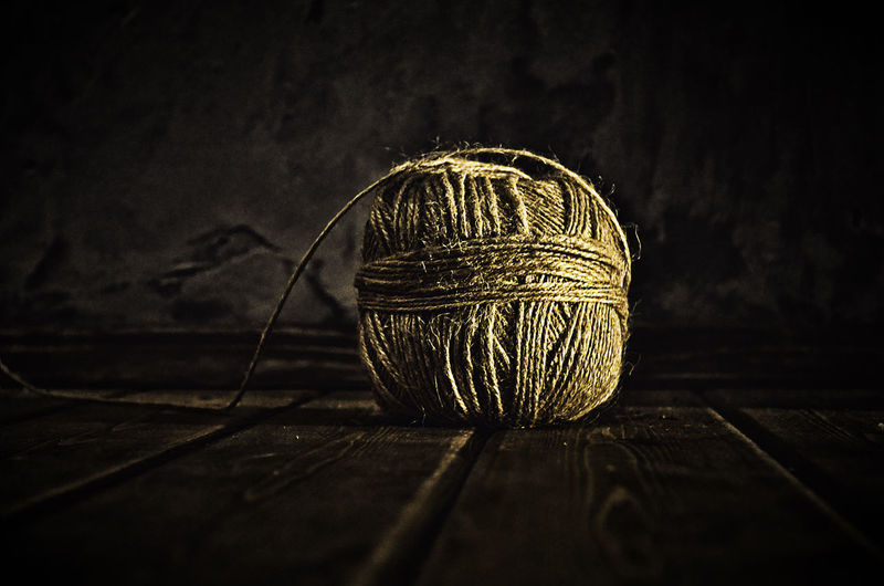 Ball Of Wool On Table