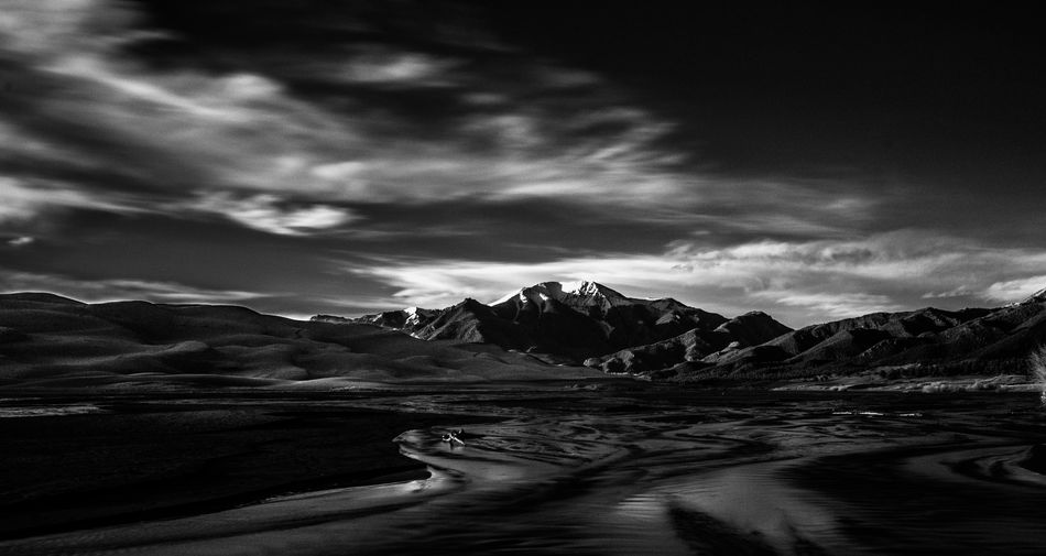 Beauty In Nature Cloud - Sky Cold Temperature Day Glacier Landscape Mountain Nature No People Outdoors Scenics Sky Tranquil Scene Tranquility Water
