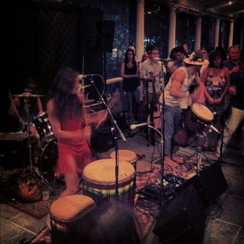 Live reggae music, people of all ages dancing, meeting awesome people, as well as the whole band! Great evening :)