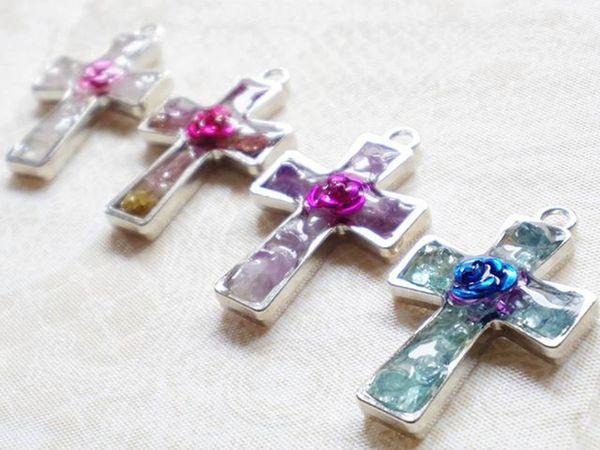 祈り Pray 薔薇 Rosé 愛 Love グロス 十字架 ロサリオ Cross Rosary オルゴナイト Orgonite ポジティブ Positive