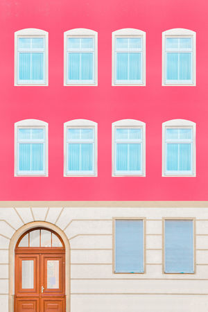 Reichenberger The Graphic City Architecture Façade Pastel Power Urban Geometry Architectural Column Architectural Feature Architecture Building Exterior Built Structure Day Geometry No People Outdoors Pastel Pink Color Red Residential Building Symmetrical Symmetry Symmetryporn Window Colour Your Horizn