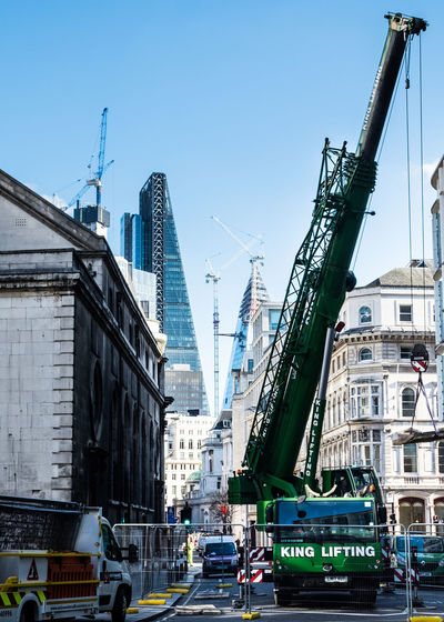 cranes London Crane Crane - Construction Machinery Working Industry Landscape Cityscape Day Building Exterior
