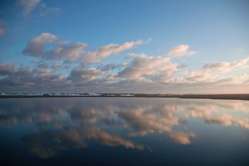 MIRROR Sea Mirror Reflection Ocean Sky Tranquility Reflection Tranquil Scene Nature Beauty In Nature Scenics No People Cloud - Sky Outdoors Water Lake Day Symmetry