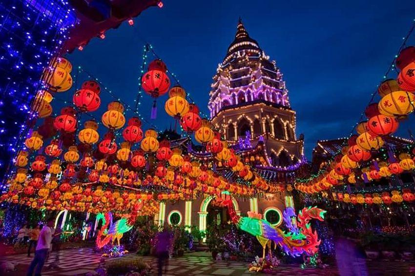 Kek Lok Si Penang Malaysia Night Chinese New Year Sky Chinese Lantern Festival Niteshots Nite Lights