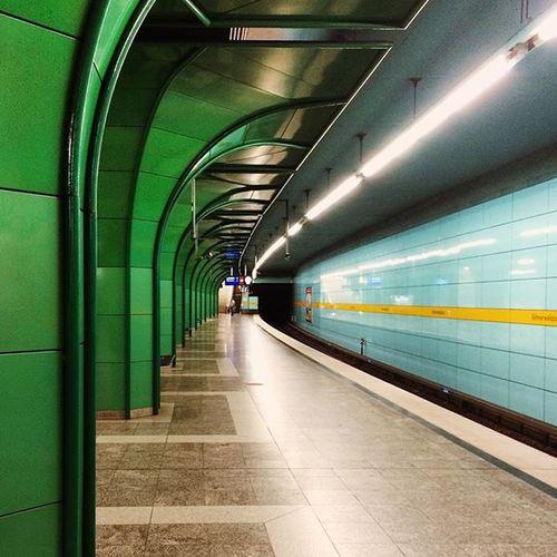 Green Arcades WernersGermanTrip Munich Germany Architecture Underground Ubahn Architecture_collection Achitexture Paint The Town Yellow