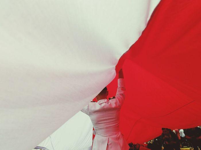 Indonesian flag Flag INDONESIA Carnival Jakarta Giantflag