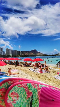 Honolulu, Hawaii Wikiki Beachphotography Sea Beach Sand Nature Nature_collection EyeEm Nature Lover EyeEm Best Shots Sky Eye4photography  Taking Photographs CaptureTheMoment Surfboard Colors Happy Moments Clear Sky Relaxing Moments Relaxation Eyem Gallery Summer EyeEm Gallery Hdr_Collection Hawaii