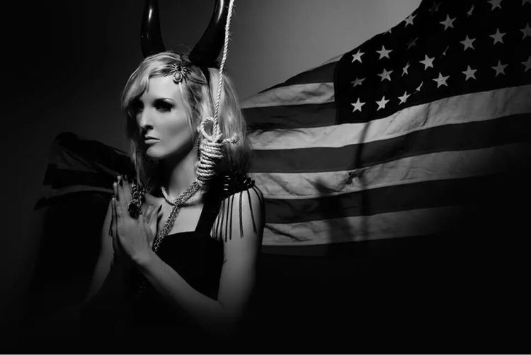 Flag Cultures Patriotism Portrait Beauty Model Photography Beautiful Woman Fashion Model First Eyeem Photo Real People Photography Lifestyles Conceptual Photography  Model America American Flag American Dream Darkness Young Adult Adult One Woman Only Young Women One Person Adults Only One Young Woman Only