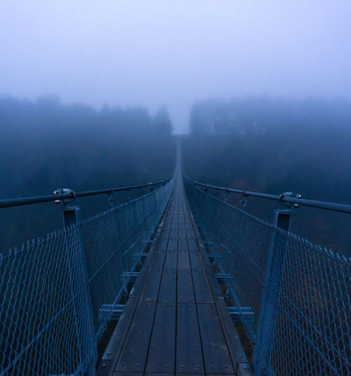 Bridge in foggy weather