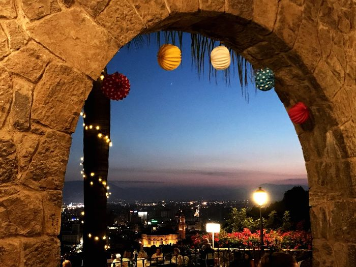 Málaga Fair Architecture Illuminated Lighting Equipment Built Structure Nature Arch Night Building Exterior