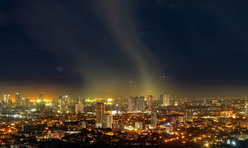 Cityscape Long Exposure Nightphotography Fujifilm Fujifilm_xseries Fujifilm Xa1 High Vantage Point Cityscape City Illuminated Urban Skyline Awe Sky