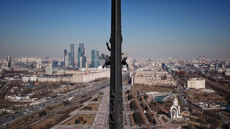 Moscow overlook from Victory monument DJI X Eyeem Victory Day City Under Blue Sky Sunny Day Best Moscow View Russia Bird Eyes View Best EyeEm Shot Monument Architecture Split In Half City Perspective City From Above City Landscape Moscow From Above Moscow City Skyscrapers Victory Monument Monument Stella Moscow Moscow City Sky High Angle View No People Tall - High Tower Modern Skyscraper #urbanana: The Urban Playground