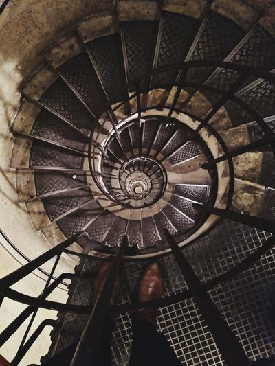 Steps And Staircases Spiral Stairs Arc De Triomphe, Paris