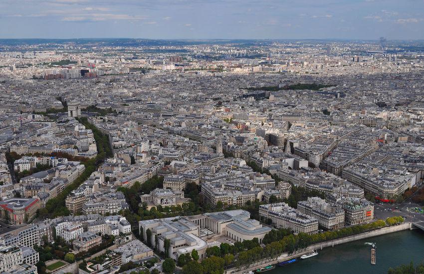 Citta City France Francia High View Palazzi Parigi Paris Urban View Vista Dall'alto