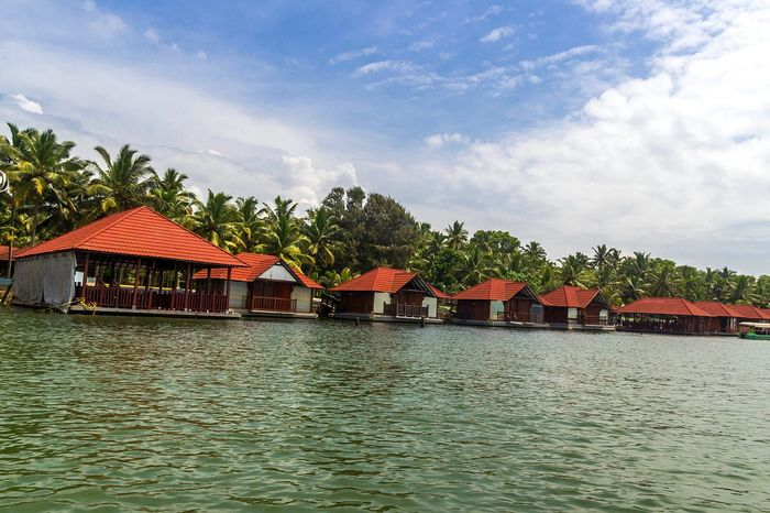 House Architecture Water Backwaters Of Kerala Outdoors No People Nature Scenics Tranquility The Week On EyeEm EyeEm Nature Lover Day Sky Poovarislandresort Motorboat Poovar Keraladiaries
