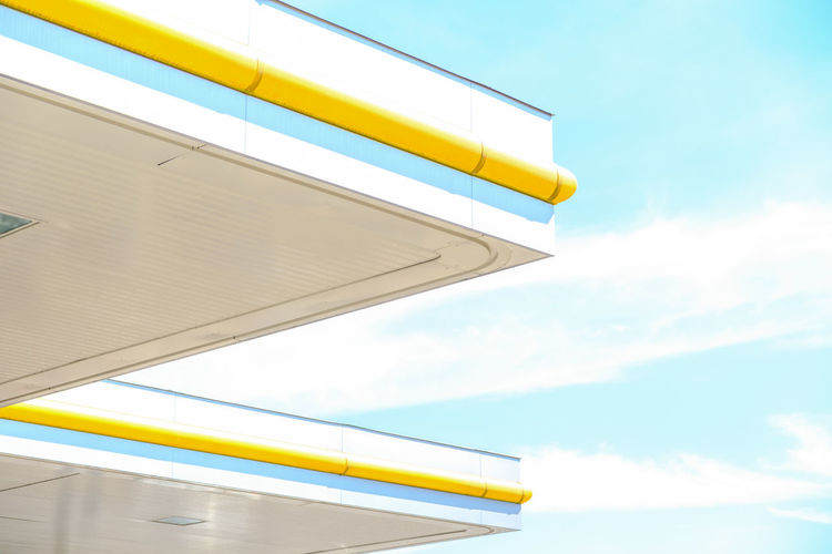 The Graphic City Close-up Day Low Angle View No People Outdoors Sky Transportation Yellow