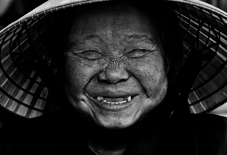 Close-Up Portrait Of Senior Asian Woman