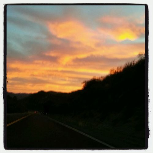 The sunrise this morning as I drove to work.♥