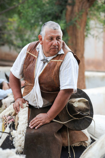 Andes Argentina Day Front View Horse One Person Outdoors People Purmamarca Real People Senior Adult Senior Men