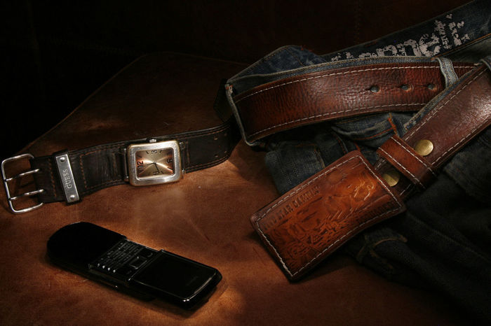 Accessories Belt  Clock Close-up Leather Leather Belt Mans Accesories Phone Still Life Wristwatch Lieblingsteil