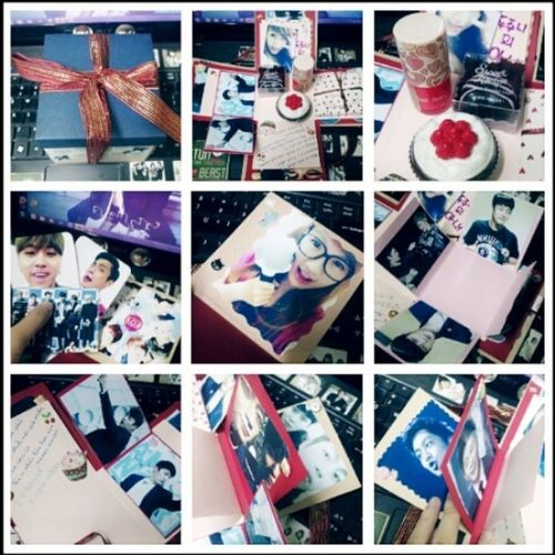 How a creative and sweet birthday gift from a B2UTY ♥ thank you sweetheart~ HappyBirthday Gift Sweet Sweet21
