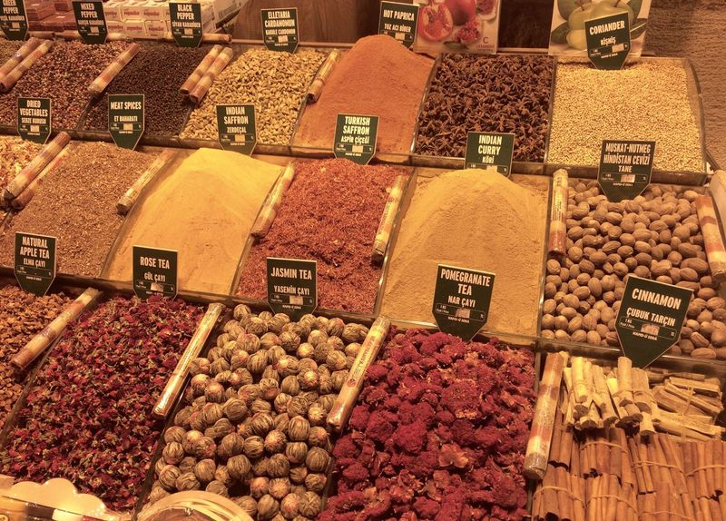 Abundance Arrangement Bazaar Choice Dried Food Dried Fruit Food Food And Drink For Sale Freshness Fruit Healthy Eating Istanbul Large Group Of Objects Market Market Stall No People Price Tag Retail  Spices Tea Variation