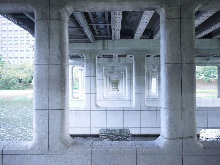 橋の下から… On The Road Okazaki Landscape Bridge