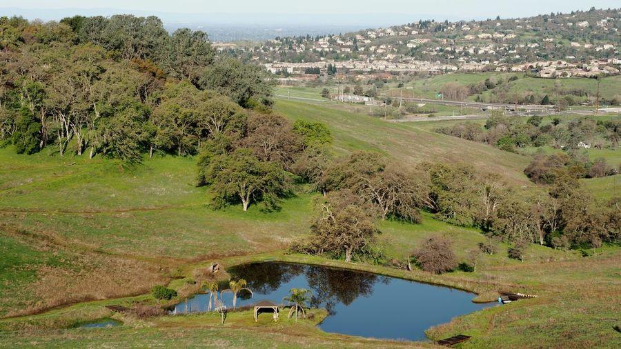 Tree Water Rural Scene Mountain Sky Landscape Cultivated Land Irrigation Equipment Terraced Field Sprinkler Farmland
