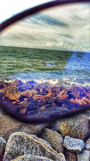 Through a Window... To the WORLD... ZTE Axon7 ZTEphotography ZTE AXON 7 Sunglases 😎 Sunglasses On The Beach Sunglasses Reflection Illuminated Reflection Multi Colored Sea Beach Water Sunset Nature Travel Outdoors Freshness Beauty In Nature Textured  Pebble Pebble Beach Ztefanphotography Rock - Object
