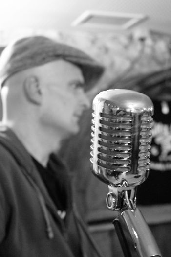 Black & White Black And White Black And White Photography Close-up Focus On Foreground Indoors  Lifestyles Microphone Music Musical Instrument Musician Musique Noir Et Blanc Noir Et Blanc Photographie One Person People Rock N Roll Singer