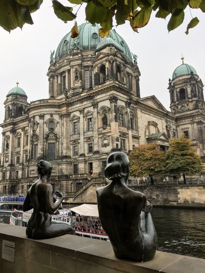 Views in Berlin, Germany Architecture Dome Building Exterior Built Structure Travel Destinations Statue Tourism City Tree Place Of Worship Sculpture Berlin Cathedral Art Monument Berliner Dom