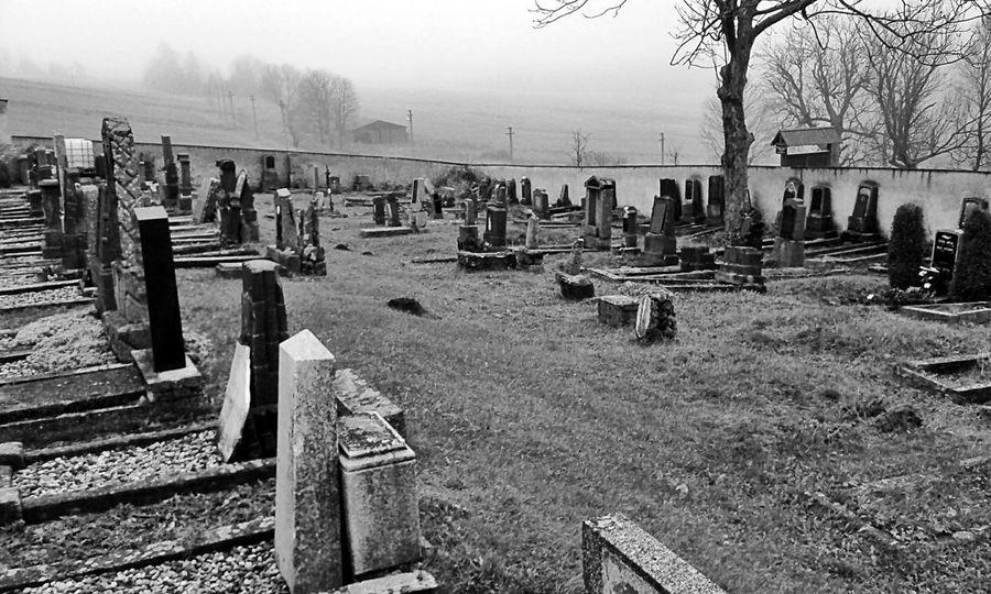 Black & White Autumn Melancholy Life Death Graveyard Grave Gravestone