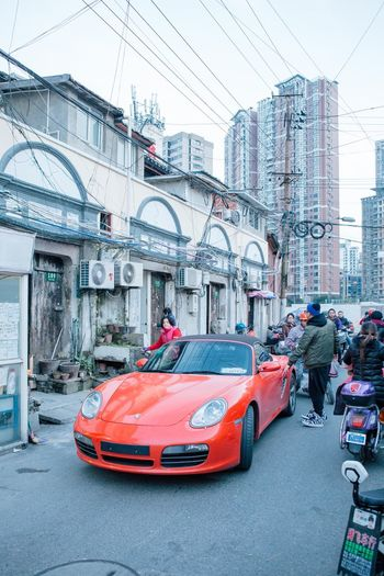 China Shanghai TakeoverContrast Car Porsche Transportation City Street City Life Streetphotography Travel VSCO EyeEm Best Shots Eye4photography  Urban Scene Colours Journey Vscocam Travel Photography Documentary City Life Urban The Week Of Eyeem Check This Out Redstartravel