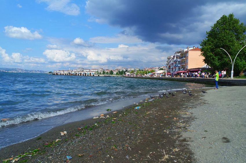 Kocaeli Turkey Degirmendere Beach Clouds Sea Sea And Sky Landscape