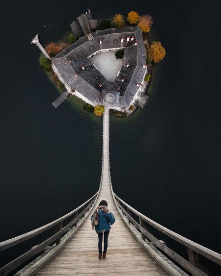 Creativeshot Djimavicpro Dji Photoshop Lake Water Bridge Inception Nature Landscape Drone  People Outdoors
