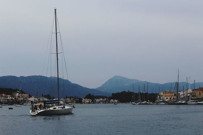 Poros island, Greece Harbor Travel Destinations Landscape No People Outdoors Mountain Range Sailboat Day Sky Nature Vacations Scenics Tranquility Water Beauty In Nature Mountain Sea Wonderful Day Photography Summer Greece Island Blue Poros From Greece With Love