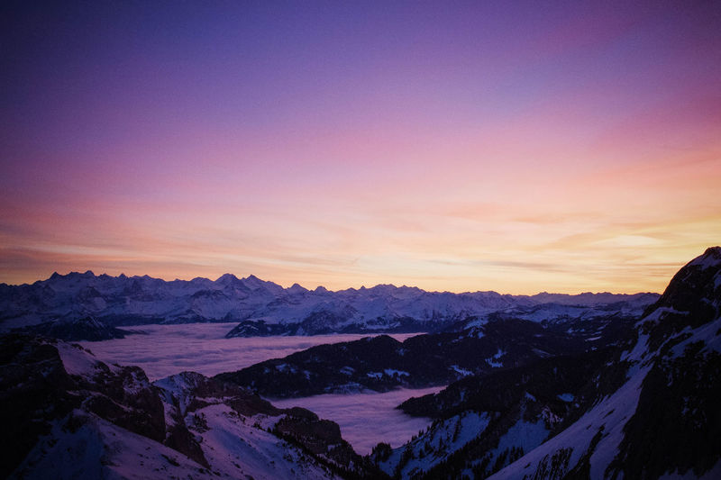 Pilatus | Switzerland Beauty In Nature Cold Temperature Day Landscape Mountain Mountain Range Nature No People Outdoors Scenics Sky Snow Sunlight Sunset Tranquil Scene Tranquility Travel Destinations Winter