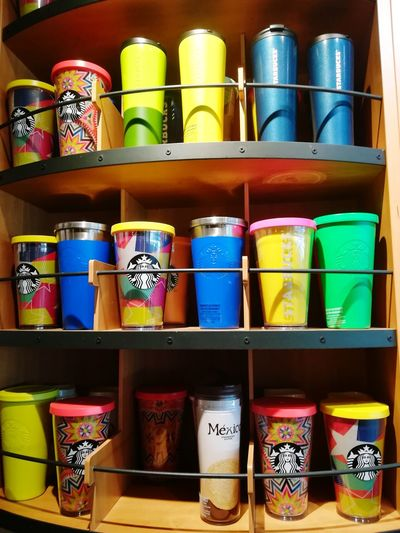 Starbucks スターバックス タンブラー カンクン メキシコ Mexico Multi Colored Shelf Choice Variation Stack Can Store