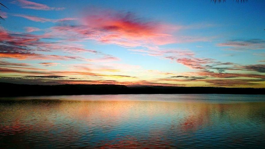 Lake Sunset. Lake Lake View Sunset Red Pink Reflection Reflections