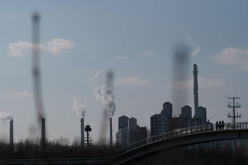 Factory Environment Industry Smoke Stack Smoke - Physical Structure Day Clear Sky