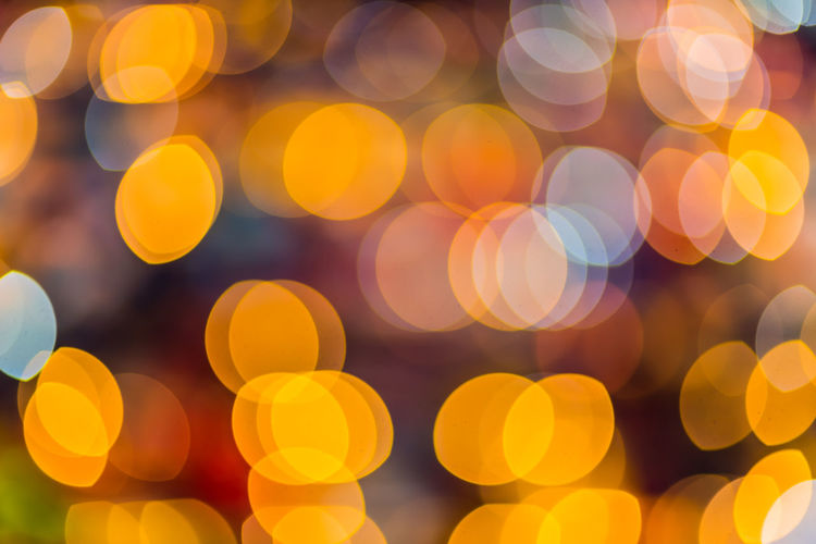 light bokeh Bokeh Defocused Backgrounds Yellow Multi Colored Pattern Abstract Full Frame Circle