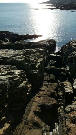 Water Reflection Sunlight Nature Beach Backgrounds No People Scenics Day Sky Close-up Beauty In Nature Marginal Way Rock - Object Cold Temperature By The Sea Coastal Views EyeEm Best Shots - Nature Tranquil Scene Maine Photography 🌲