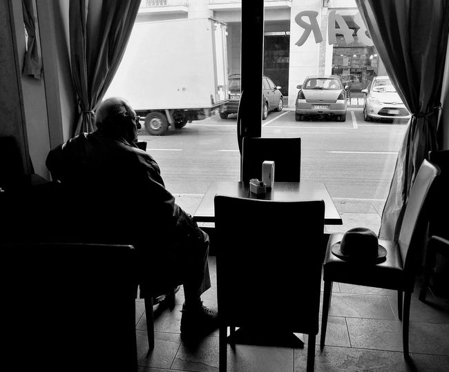 Bar Vintage Indoors People Only Men Old Man Blackandwhite Photography Latoartistico Picoftheday