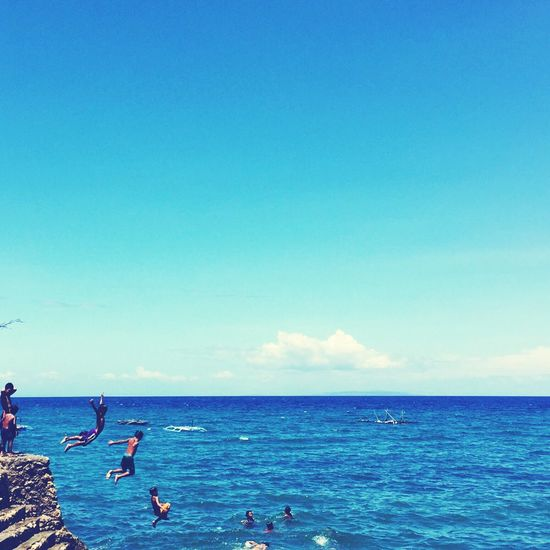 Summer CliffJumping Cliffdiving Cebu Clouds And Sky Cloudporn Life Is A Beach